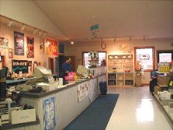 The inside front counter at Sunrise Pools