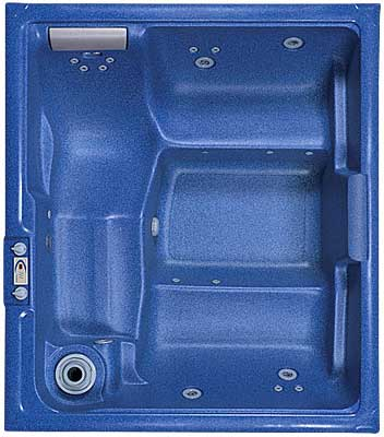 Trinidad spa shown in Blue. Also available in Sand.